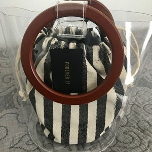 F21 Clear Bucket Bag